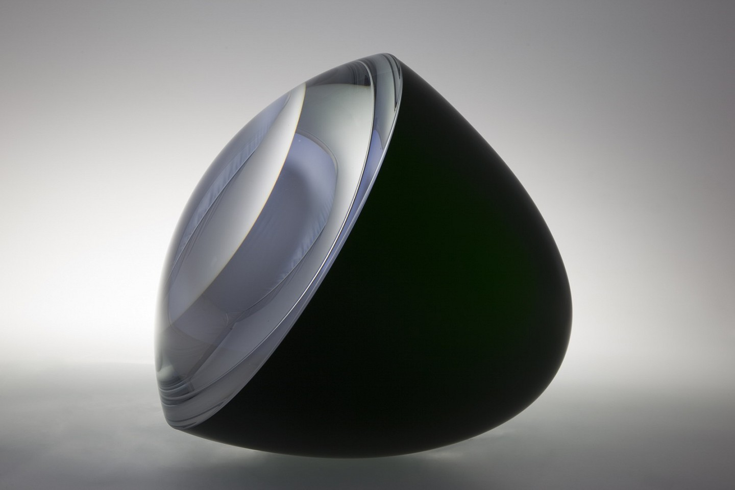 Vaclav Cigler, Green Half Sphere 2009, Optical Glass